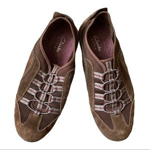 Clarks Haley falcon Brown Suede Lace Up Shoes